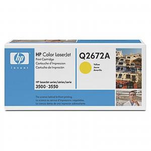 HP Q2672A оригинална жълта тонер касета 309A
