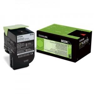 Lexmark 80C20K0 оригинална черна тонер касета (Return Program)