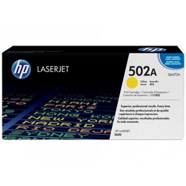 HP Q6472A оригинална жълта тонер касета 502A