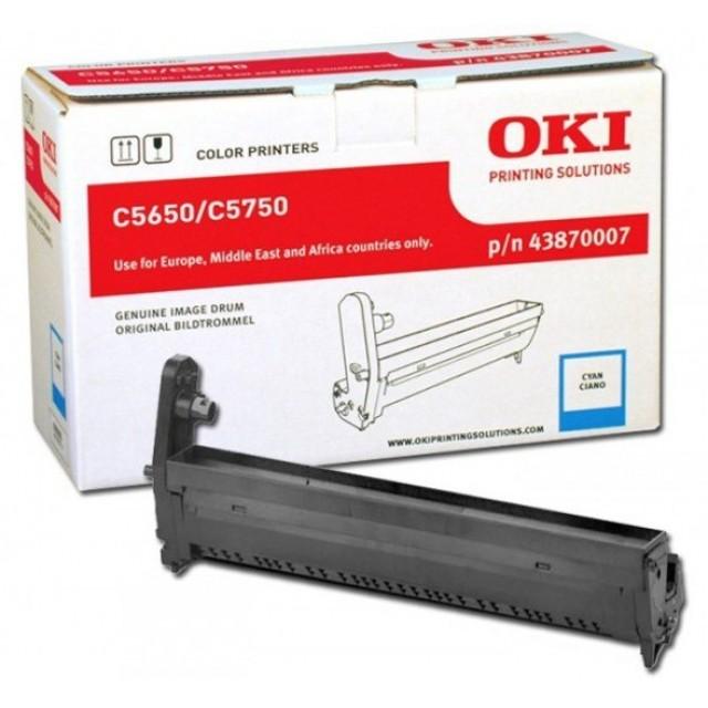 OKI 43870007 оригинален син барабанен модул за C5650/C5750