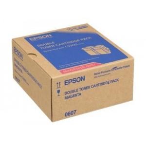 Epson C13S050607 двоен пакет оригинални червени тонер касети