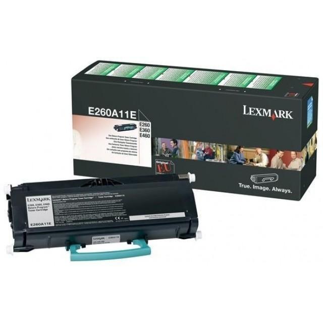 Lexmark E260A11E оригинална черна тонер касета (Return Program)