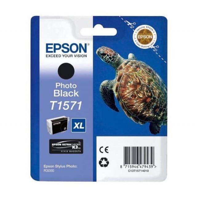 Epson T1571XL фото черна мастилена касета