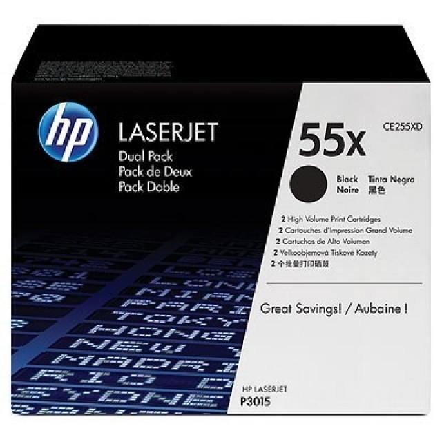 HP CE255XD двоен пакет оригинални черни тонер касети 55X