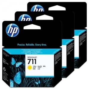 HP CZ136A пакет 3 жълти мастилени касети 711