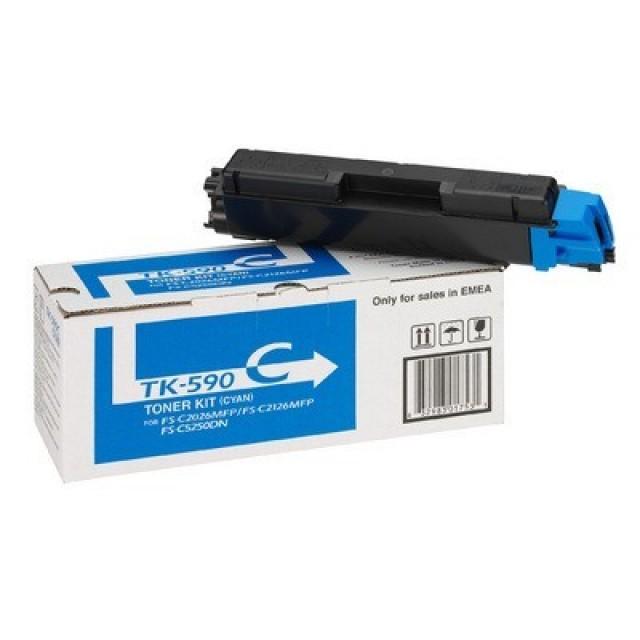 Kyocera TK-590C оригинална синя тонер касета