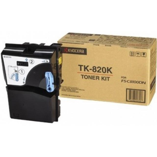 Kyocera TK-820K оригинална черна тонер касета