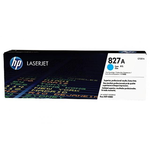 HP CF301A оригинална синя тонер касета 827A