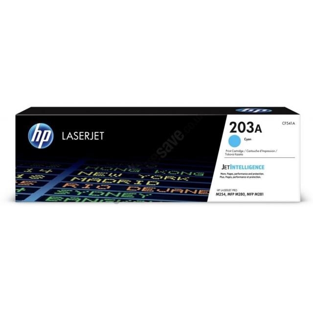 HP CF541X оригинална синя тонер касета 203X