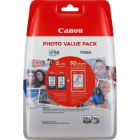 "Canon PG-545XL/CL-546XL комплект мастилени касети 	+ 50 sheets Glossy Photo paper 10 x 15 cm (4x6"")"