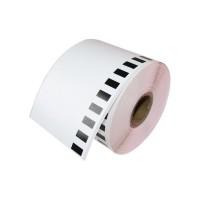 Brother DK-22225 съвместима непрекъсната хартиена лента, черен текст на бяла основа