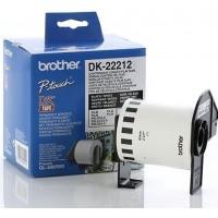 Brother DK-22212 непрекъсната филмирана лента, черен текст на бяла основа