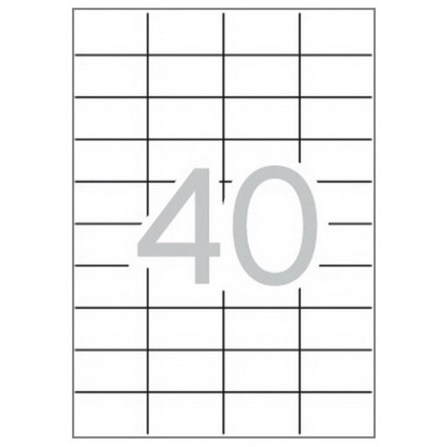 Eтикети MULTI 3, 52.5x29.7 mm, самозалепващи Multi 3