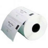 Brother DK-11240 съвместими баркод етикети, черен текст на бяла основа