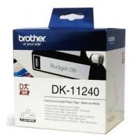 Brother DK-11240 баркод етикети, черен текст на бяла основа