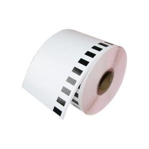 Brother DK-22205 съвместима непрекъсната хартиена лента, черен текст на бяла основа