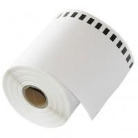 Brother DK-22243 съвместима непрекъсната хартиена лента, черен текст на бяла основа