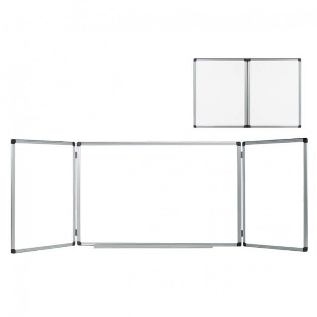 Магнитна тройна бяла дъска с алуминиева рамка Bi-Office