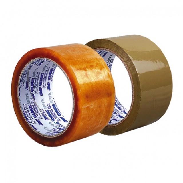Лепяща опаковъчна лента Хемус 50 mm x 66 m