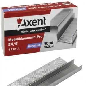 Телчета за телбод 24/6 Axent 1000 бр.