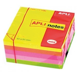 Самозалепващи листчета APLI Неон 51x51 250 листа