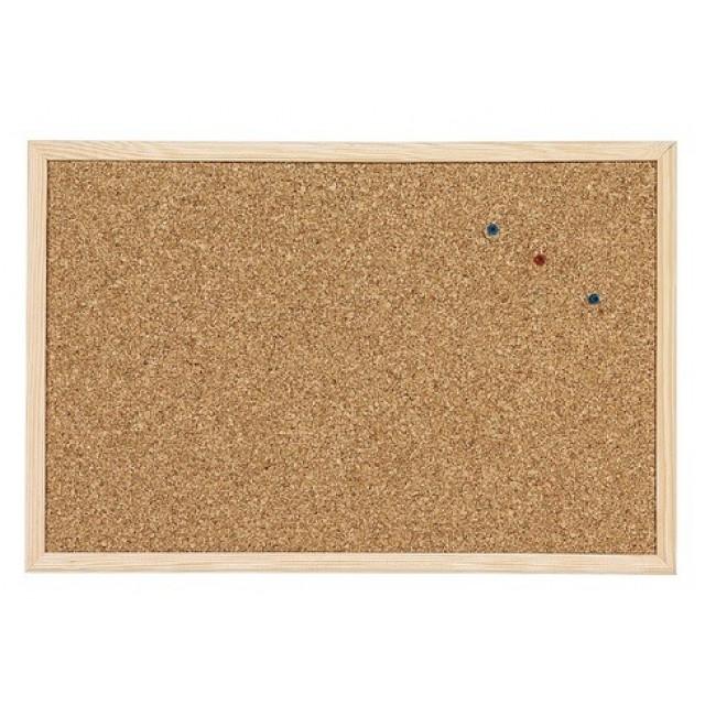 Коркова дъска с дървена рамка 30х40 cm