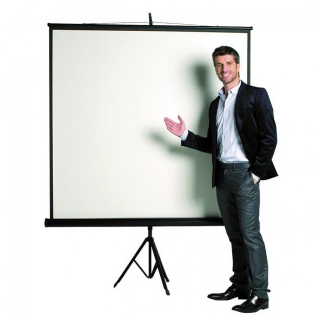 Прожекционен екран със статив Bi-Office