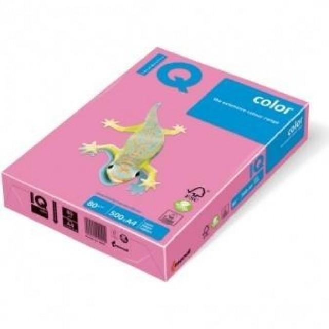 Цветна копирна хартия IQ Color PI25 розов, пастел, A4 80 гр.