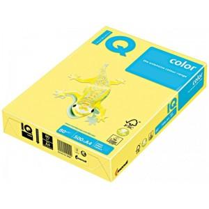 Цветна копирна хартия IQ Color YE23 жълт, пастел, A4, 80гр., 500 листа