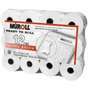 Касови ролки Müroll, 35+20 mm x 28 m, Ф48