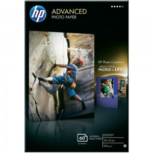 Фото хартия HP Advanced, гланц, 60 листа/10x15 cm Q8008A
