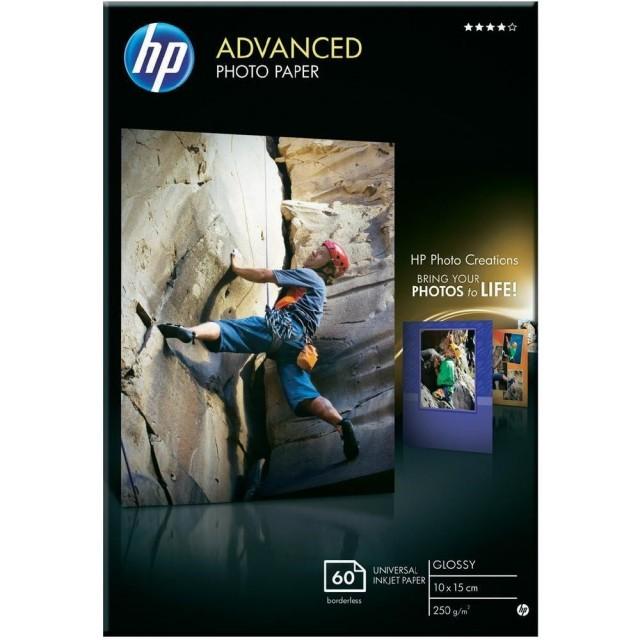 Фото хартия HP Advanced, гланц, 60 листа/10x15 cm Q8008A