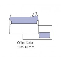Бели пликове с десен прозорец Pigna DL