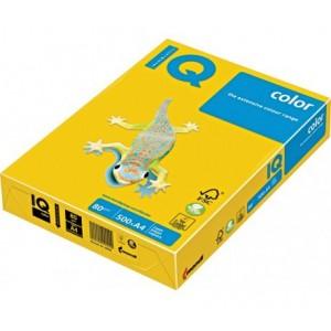 Цветна копирна хартия IQ Color SY40 наситеножълт, наситен, A4, 80 гр.