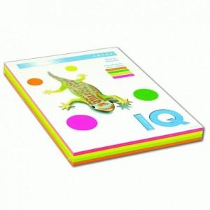 Цветна копирна хартия IQ Color неон микс, A4 80 гр.