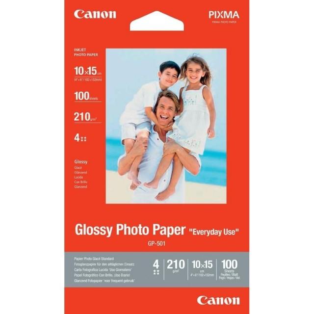 Фото хартия Canon GP-501, 10x15 см, гланц, 10 листа