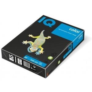 Цветна копирна хартия IQ Color B100 черен, наситен, A4 230 гр.