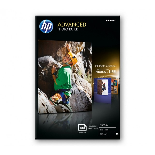 HP Advanced Glossy Photo Paper, гланц, 10x15, Q8692A