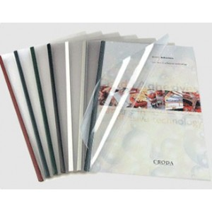 Unibind SteelCrystal type 1 Червена корица за 10 листа
