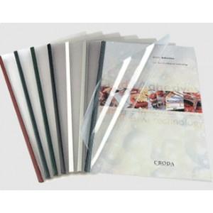Unibind SteelCrystal type 12 Червена корица за 75-100 листа