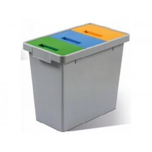 Пластмасов контейнер Polymax за разделно събиране на опаковки 40 л.