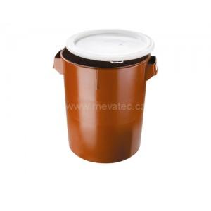 Пластмасов контейнер за отпадъци с капак, 30 литра