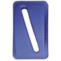 Капак за хартия - син за контейнер Slim Jim