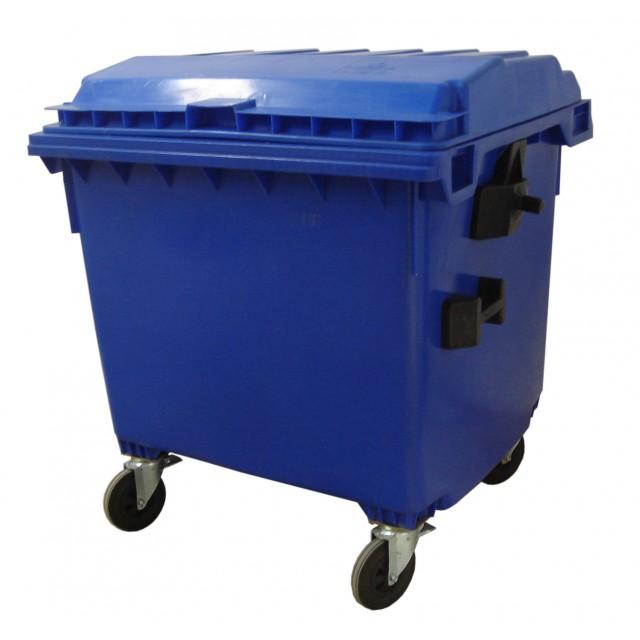 Контейнер за отпадъци, 1100 литра с  плосък капак