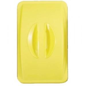 Капак без отвор - жълт за контейнер Slim Jim