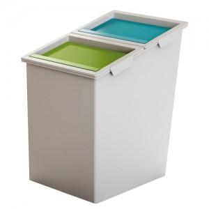Пластмасов кош за отпадъци 40 литра с два капака